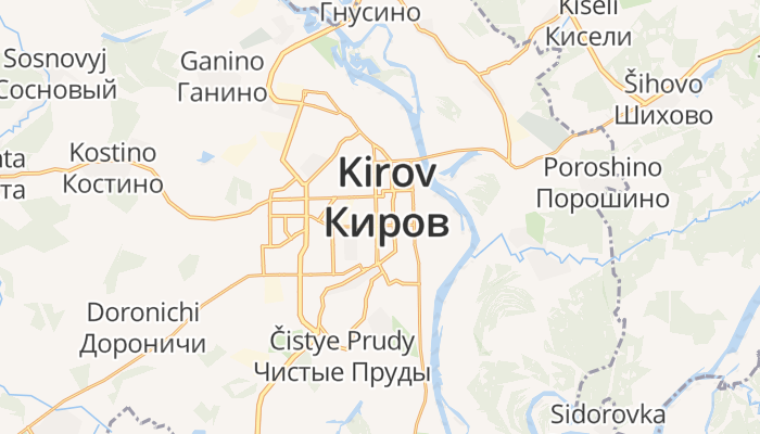 Kirov online kaart