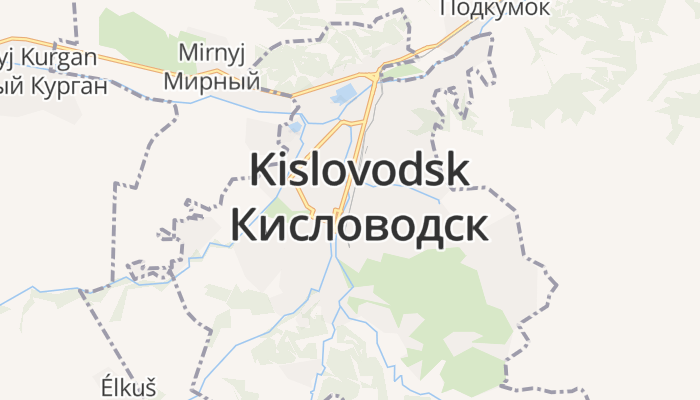 Kislovodsk online kaart