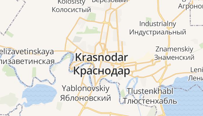 Krasnodar online kaart