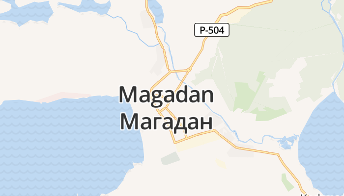 Magadan online kaart