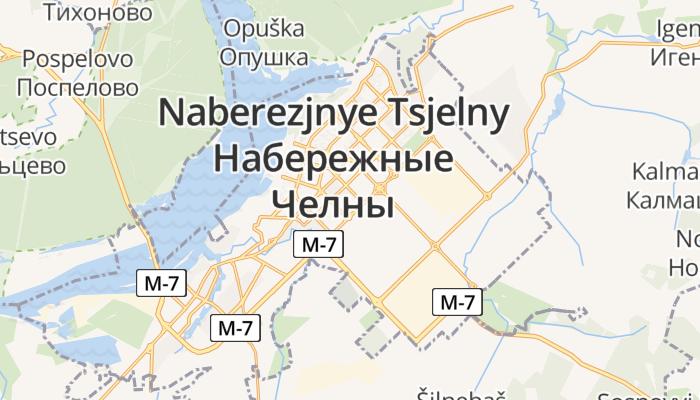 Naberezjnye Tsjelny online kaart