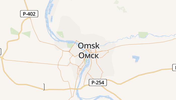 Omsk online kaart