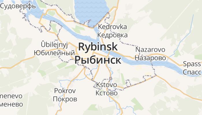 Rybinsk online kaart