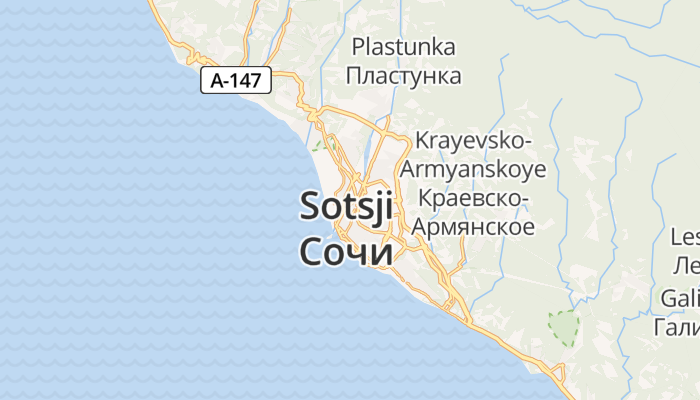 Sotsji online kaart