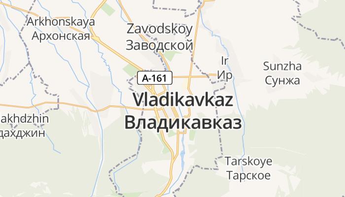 Vladikavkaz online kaart
