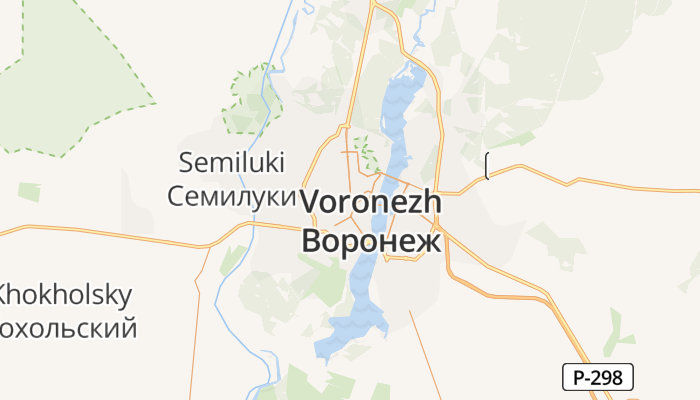 Voronezj online kaart