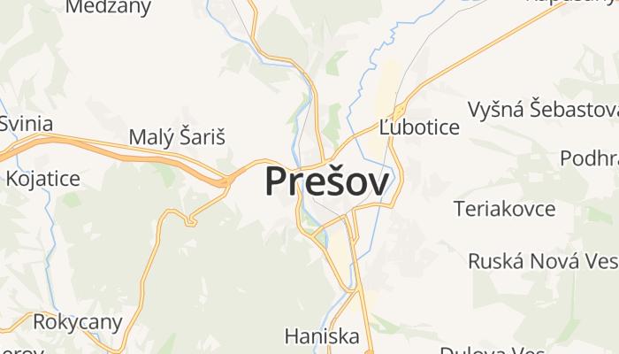Prešov online kaart