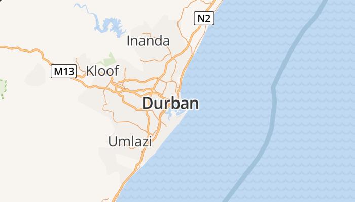 Durban online kaart