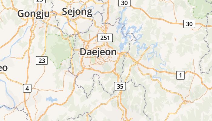 Daejeon online kaart