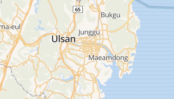 Ulsan online kaart