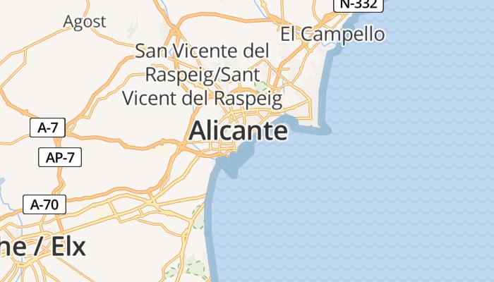 Alicante online kaart