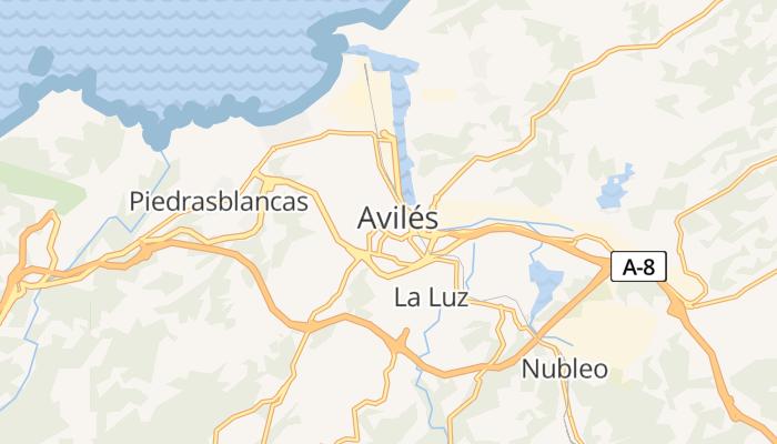 Avilés online kaart