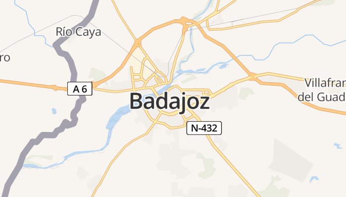 Badajoz online kaart
