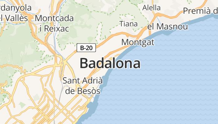 Badalona online kaart