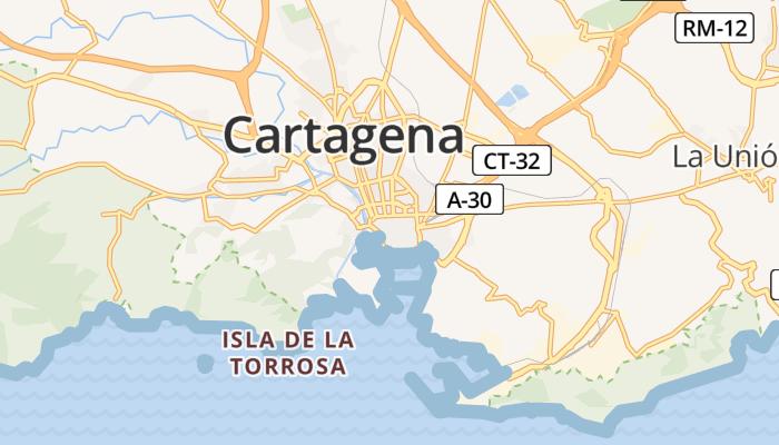 Cartagena online kaart