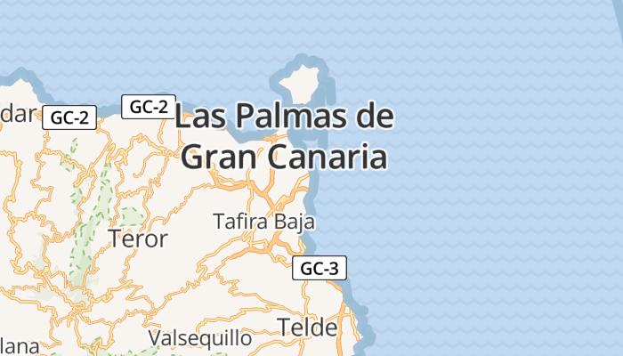 Las Palmas de Gran Canaria online kaart