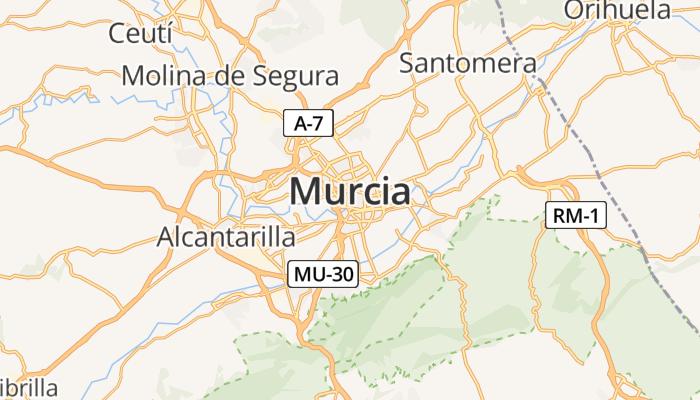 Murcia online kaart