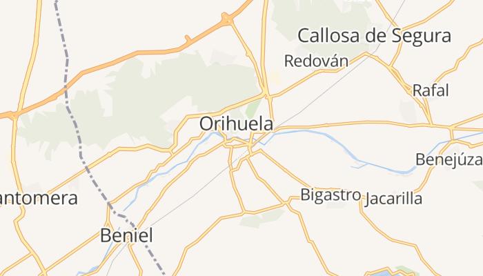 Orihuela online kaart