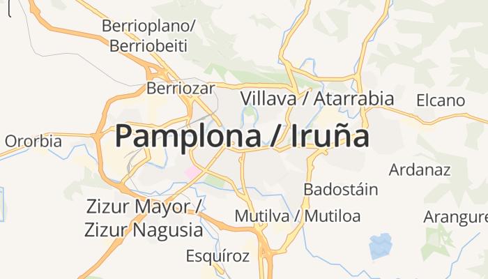 Pamplona online kaart