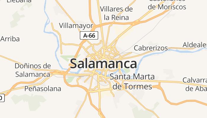 Salamanca online kaart