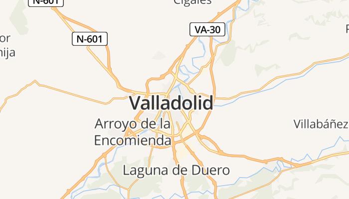 Valladolid online kaart