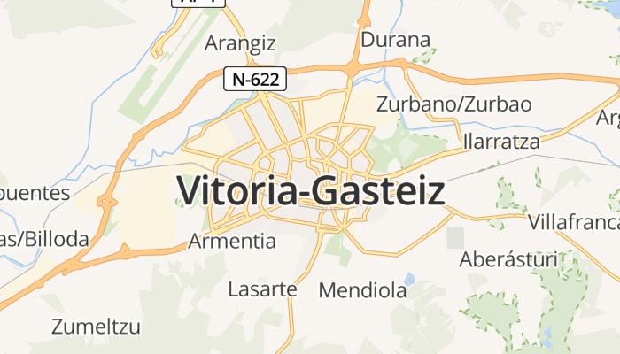 Vitoria-Gasteiz online kaart