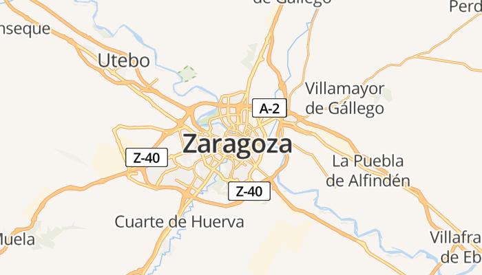 Zaragoza online kaart