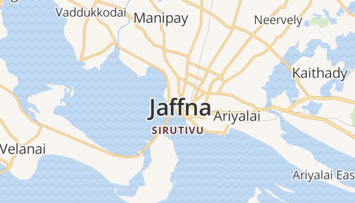 Jaffna online kaart