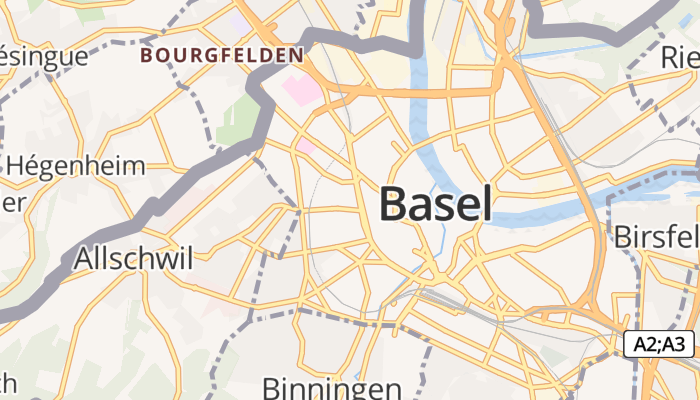 Bazel online kaart