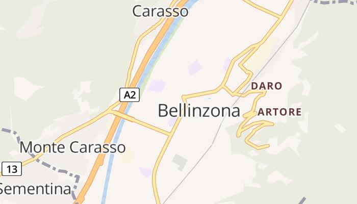 Bellinzona online kaart