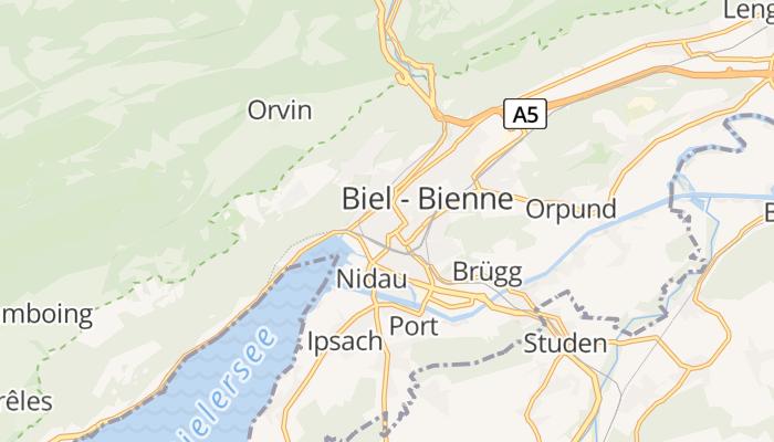 Biel online kaart