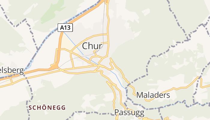 Chur online kaart