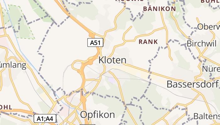 Kloten online kaart