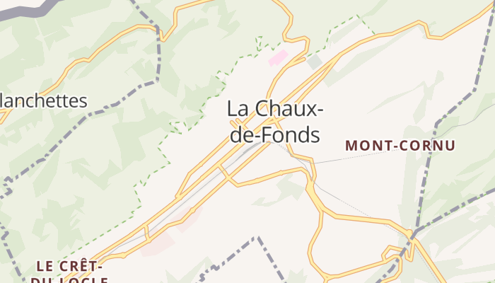 La Chaux-de-Fonds online kaart