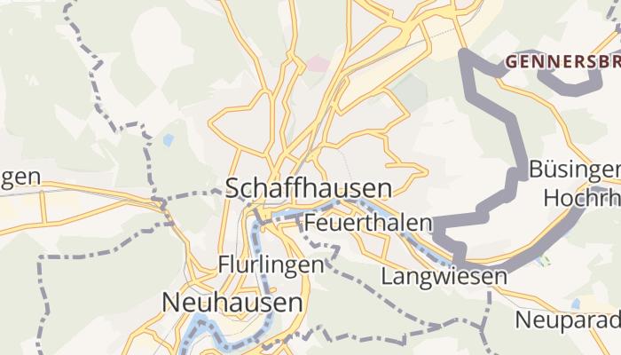 Schaffhausen online kaart