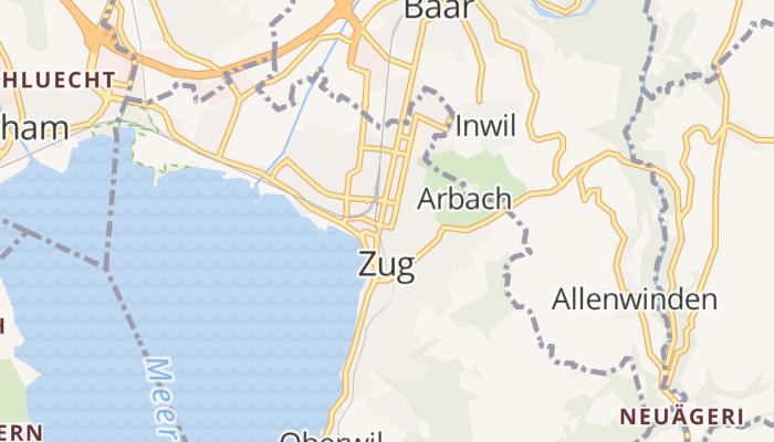 Zug online kaart