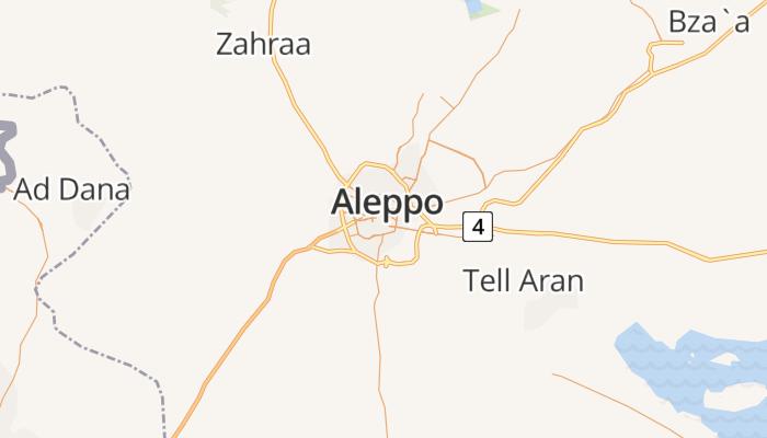 Aleppo online kaart