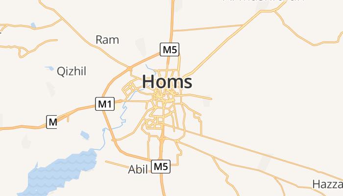 Homs online kaart