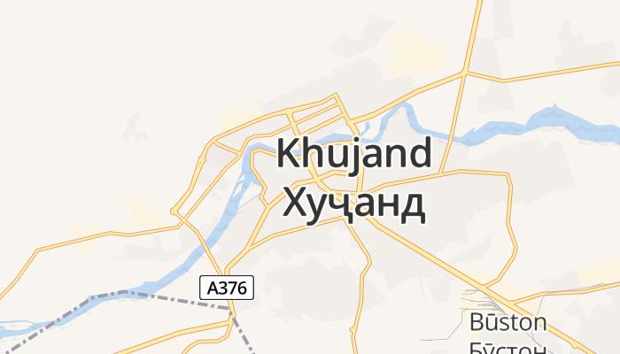 Choedzjand online kaart