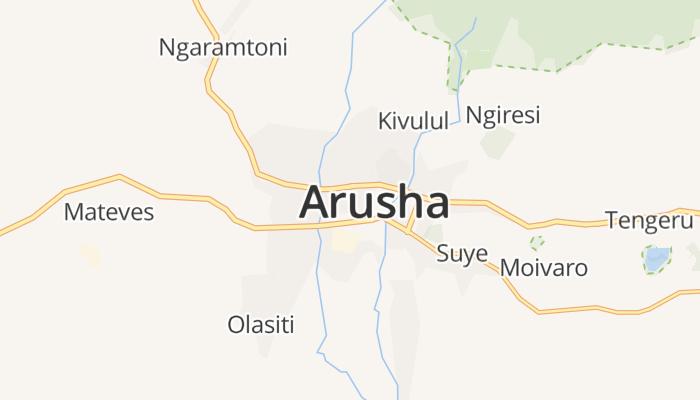 Arusha online kaart