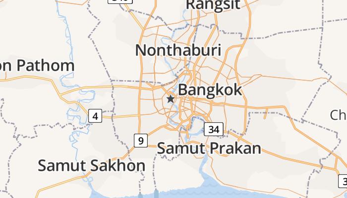 Bangkok online kaart