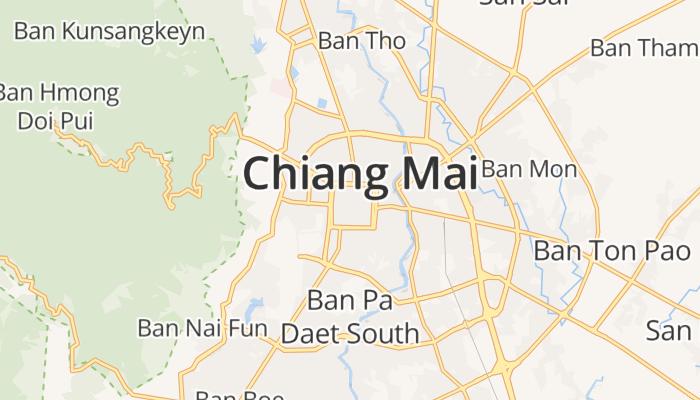 Chiang Mai online kaart