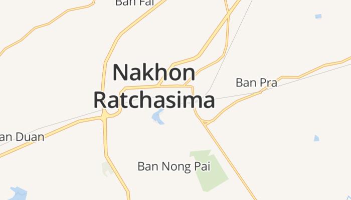 Nakhon Ratchasima online kaart