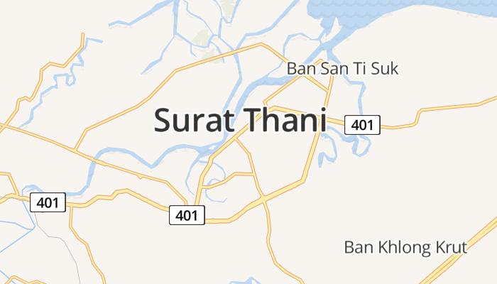 Surat Thani online kaart