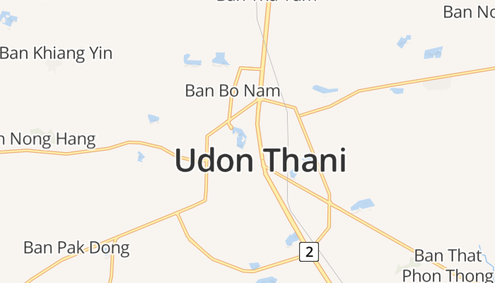Udon Thani online kaart