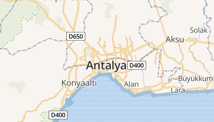 Antalya online kaart