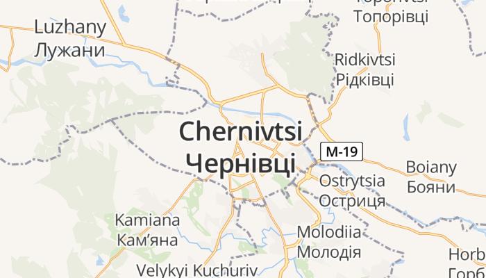 Tsjernivtsi online kaart