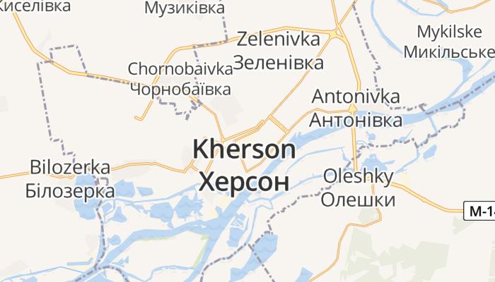 Cherson online kaart