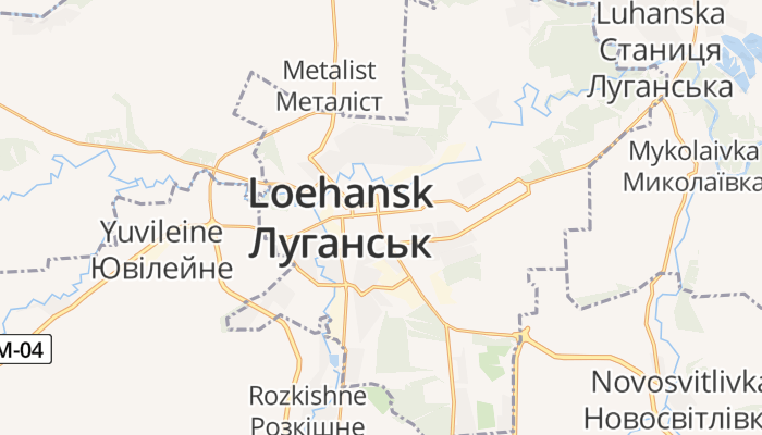 Loehansk online kaart