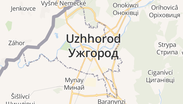 Oezjhorod online kaart